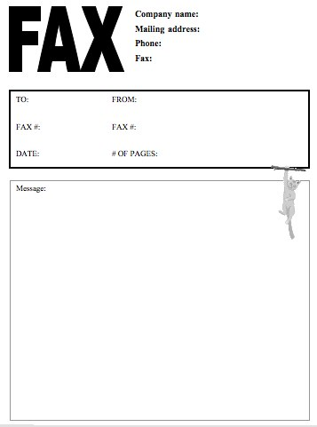 Fax Cover Letter template company name with mailing adress white - fax cover letters