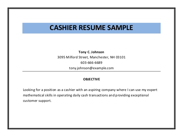 Cashier Resume Sample PDF Retail Cashier Job Description Resume