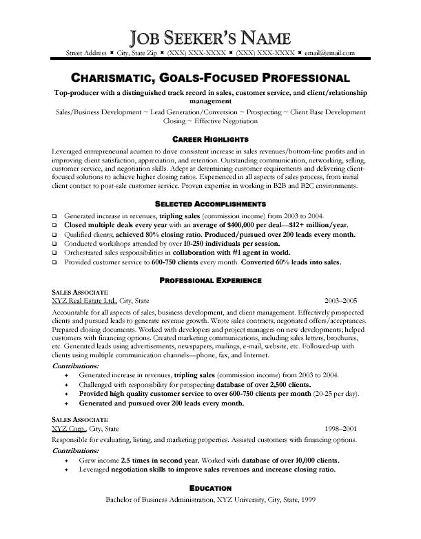Example Sales Resumes sales associate resume examples - sample resume for sales associate