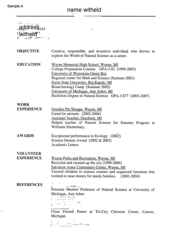 resume template without dates