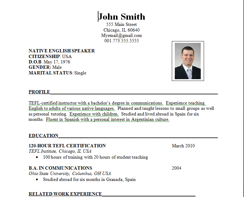 Latest Format For Resume Latest Biodata Format Teller Resume Sample