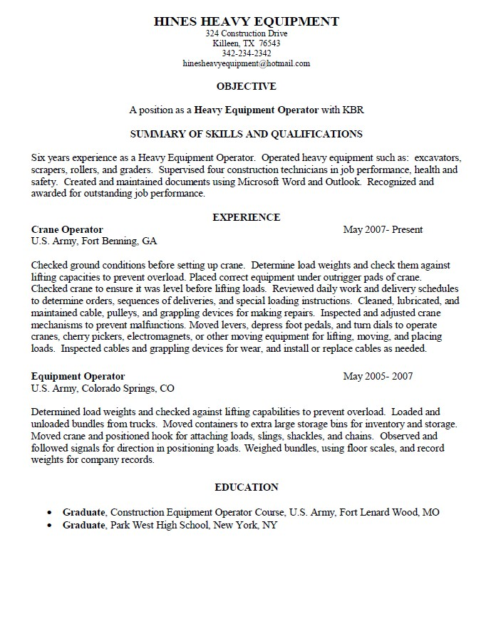 Cnc Operator Job Description For Resume. machine operator resume ...