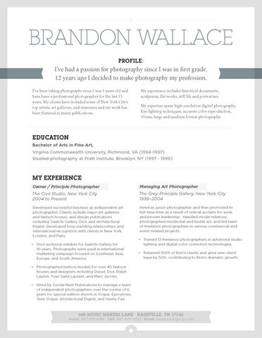 Free Creative Resumes Templates Artistic Resume Templates Art