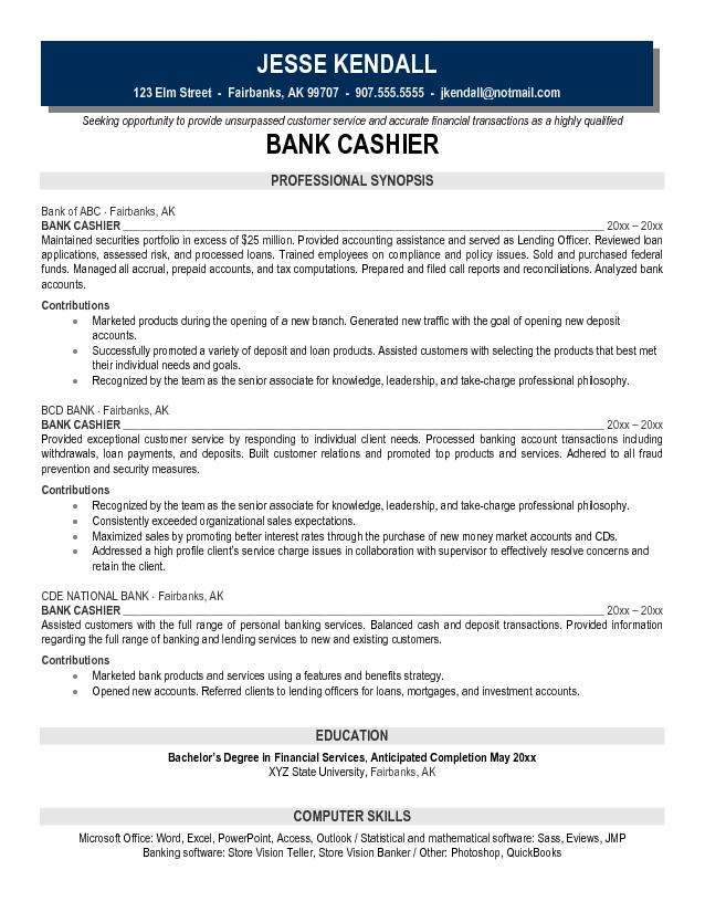 Cashier Resume Example Samples - Gse.Bookbinder.Co