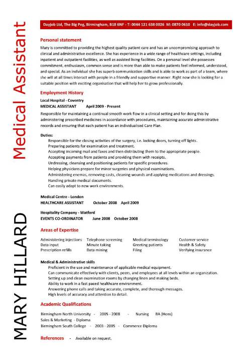 resume objective medical assistant