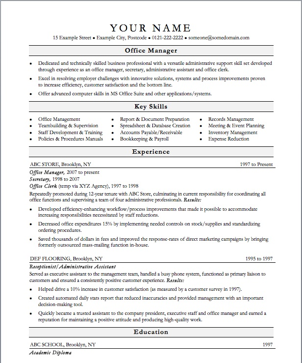 Administration Manager Resume Doc  ApigramCom