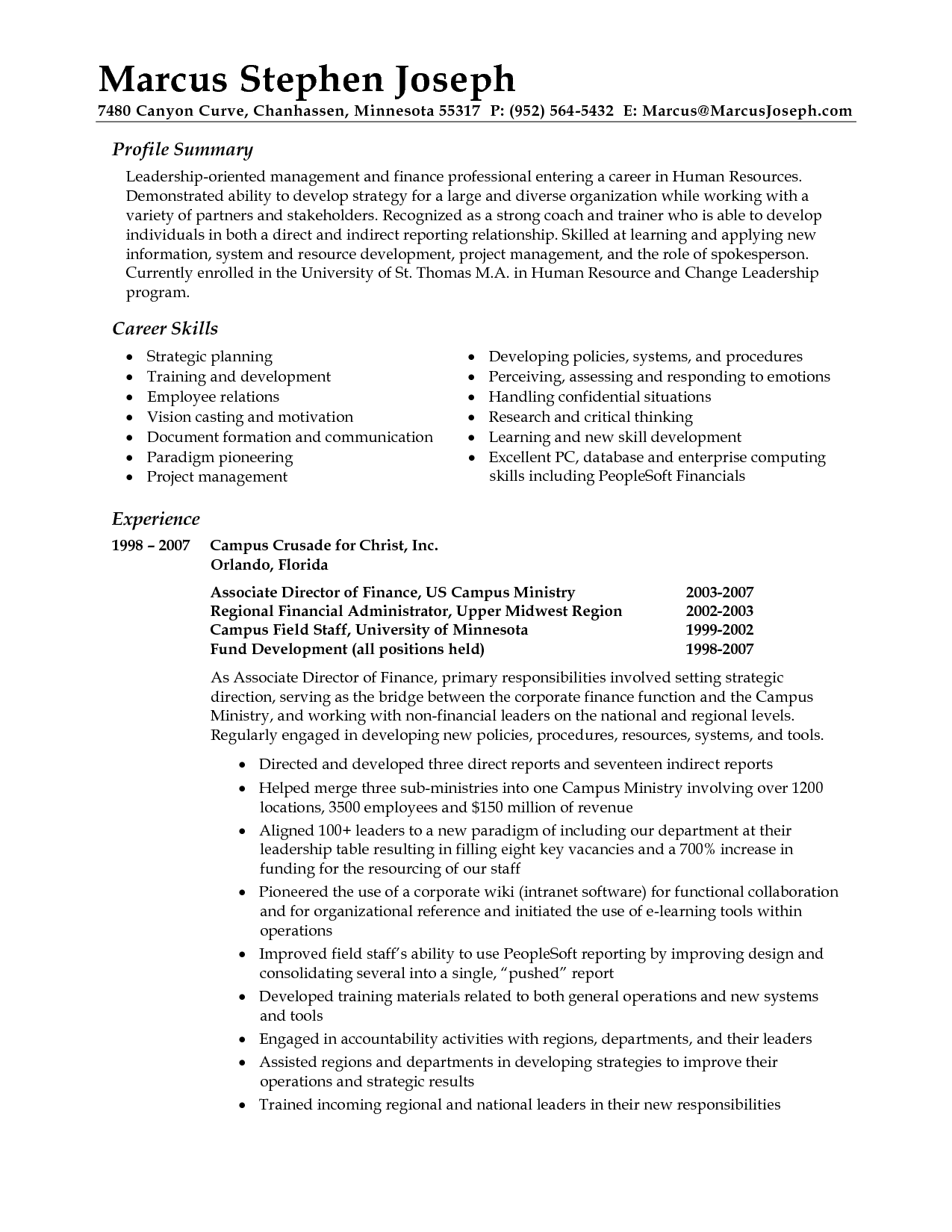 professional summary examples mortgage resume