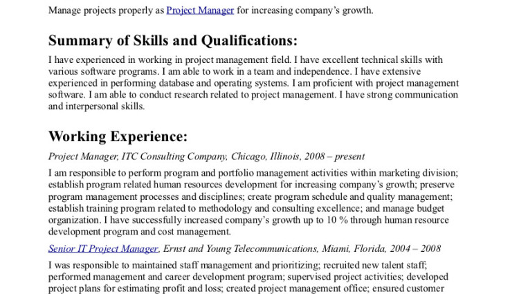 powerful objective statements for resumes