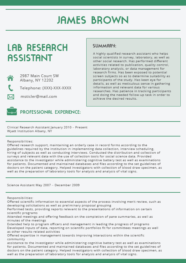 best cover letter 2016 green latest resume format lab research