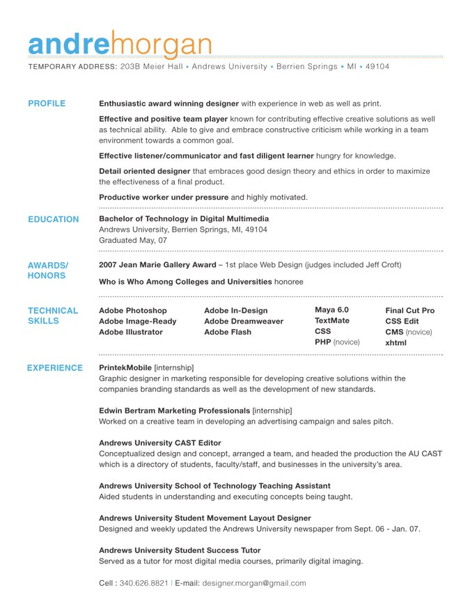 best fonts for resume - Maggilocustdesign