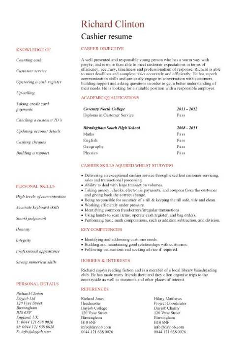 marketing internship duties and responsibilities professional cashier description for resume - Cashier Description For Resume