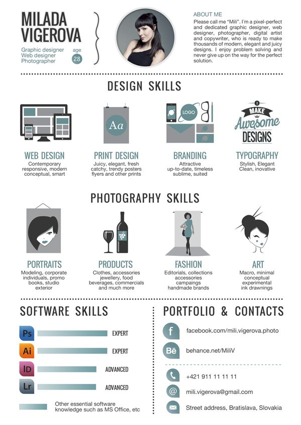 creative graphic design resume Examples of Creative Graphic Design - Graphic Design Resume Example