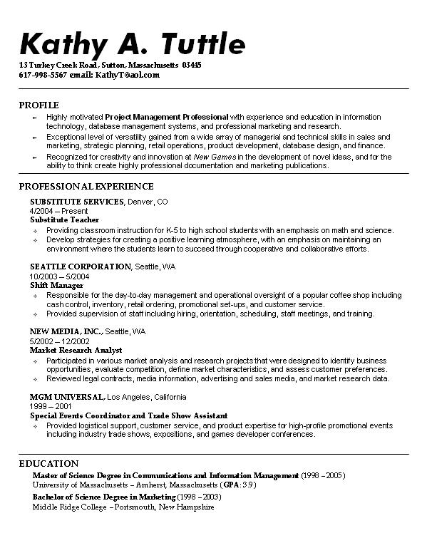 great example of a resume - Towerssconstruction
