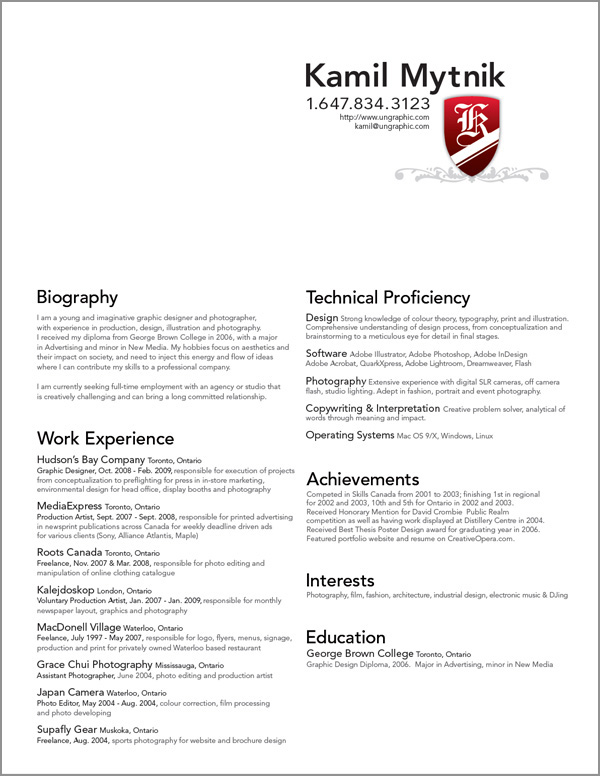 Design Resume Examples - Examples of Resumes