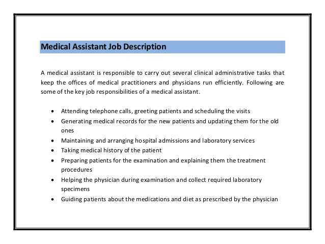 medical assistant job description pdf medical assistant resume job - Physician Assistant Job Description