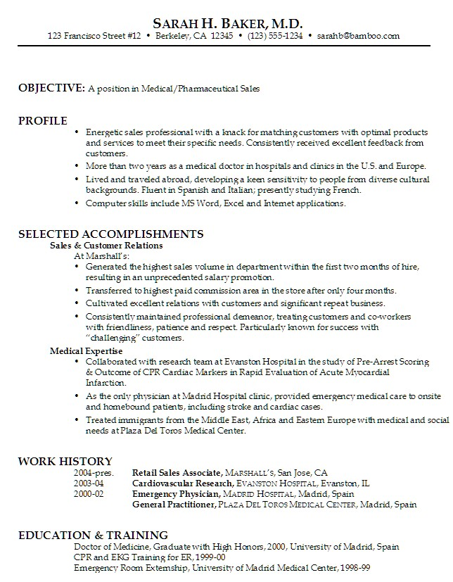medical billing coordinator resume sample Posts related to Sample - baker sample resumes