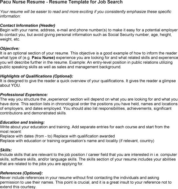 resume of a nurse - Selol-ink - Nursing Resume Tips