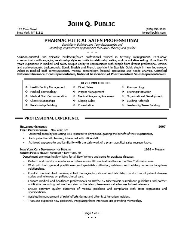 pharmaceutical sales professional sample pharmsales examples sales - direct sales resume