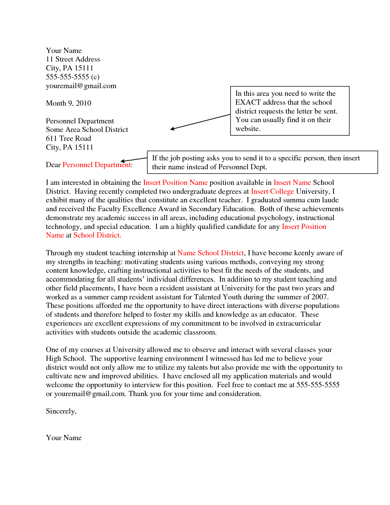 examples of cover letters for jobs selling u and cover letter