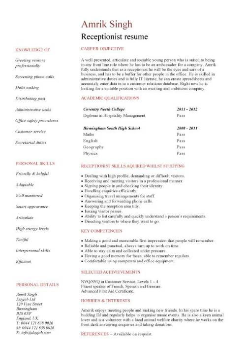 Sample Resume Medical Receptionist Job Sample Resume Medical - resume samples for receptionist jobs