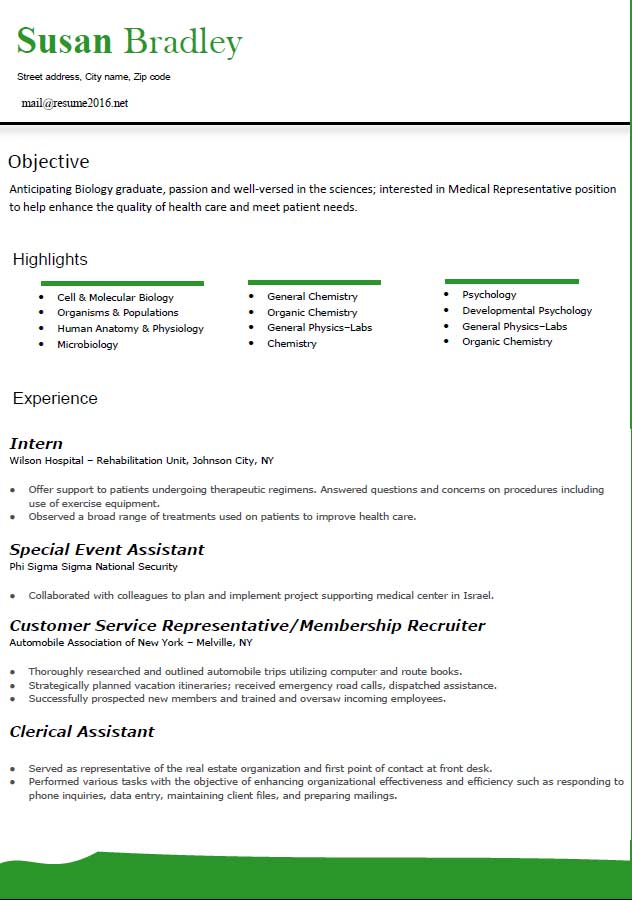 medical latest best resume format layout 2016 - SampleBusinessResume - sample business resume format