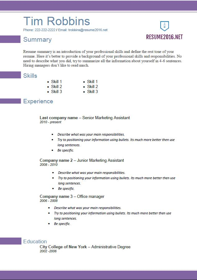 resume template 2016 violette resume Career Builder Resume Format - career builder resume builder
