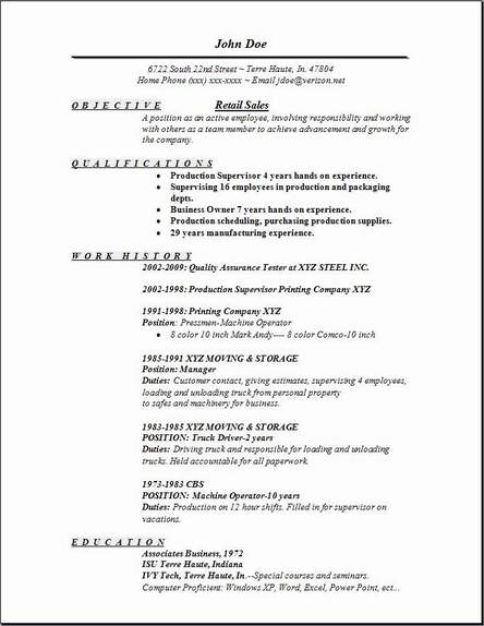 retail sales resume Sample Resume Examples - SampleBusinessResume - retail sales resume template