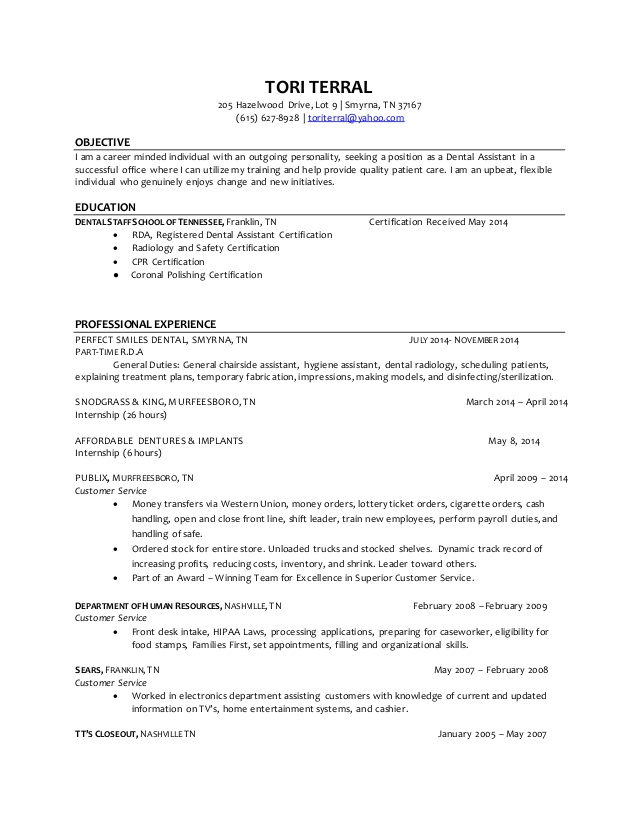 objective for resume dental assistant - Funfpandroid - objective for dental assistant resume