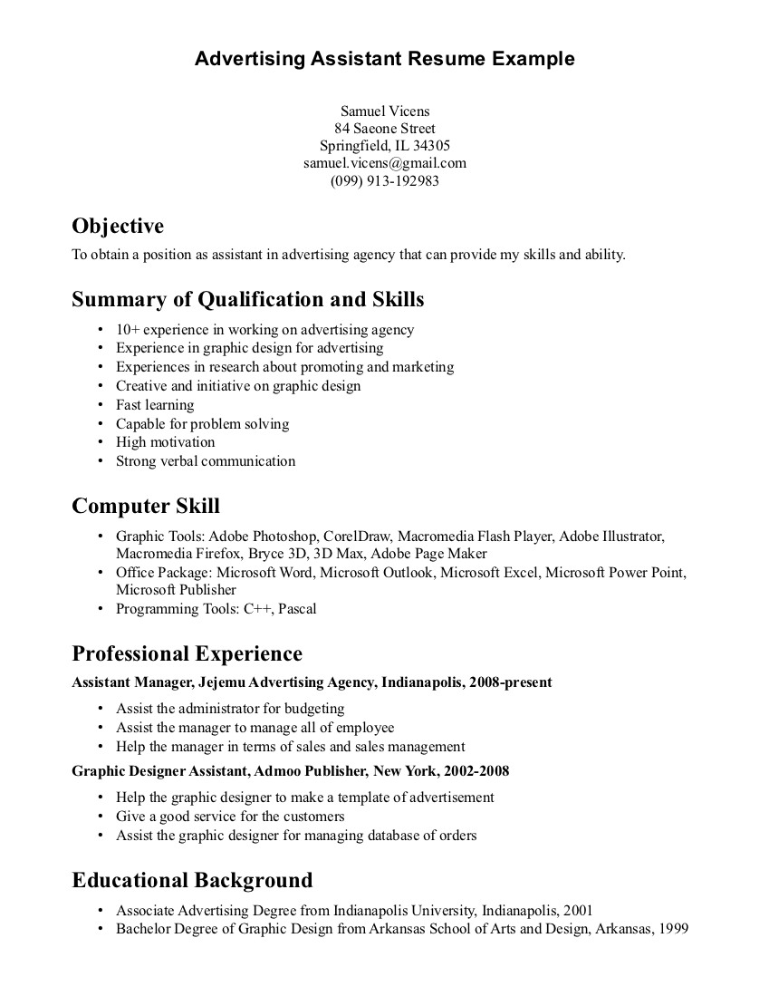 Computer Science Student Resume Best Sample Resume Marketing Internship Resume Skills