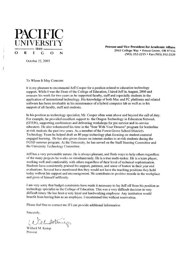 good recommendation letter for a student
