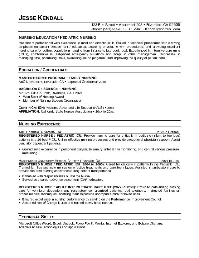pediatric resume - Romeolandinez - pediatric nurse resume