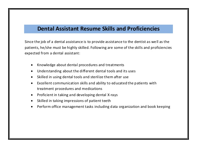 Dental Assistant Resume Samples | Sample Resume And Free Resume