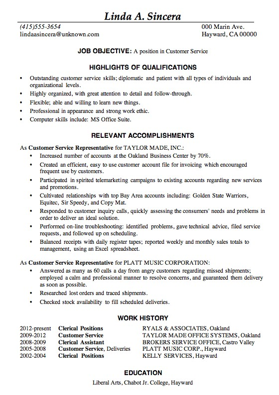 great resume examples Great Resume Examples 2013 highlights of - Good Job Qualifications