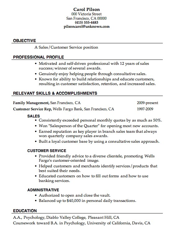 great resume examples Great Resume Examples For Customer Service - Example Or Resume