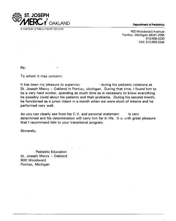 letter of recommendation example of reference letter - example of reference letters