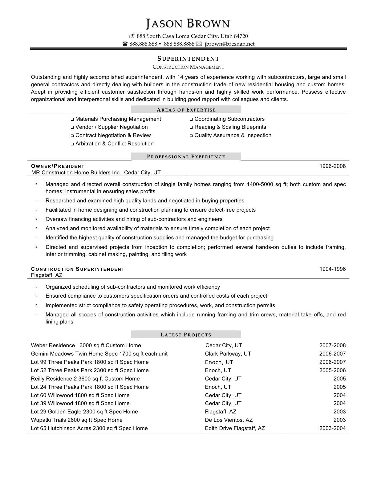 Aaaaeroincus Goodlooking Best Resume Examples For Your Job Search  Livecareer With Enchanting Example Of Resume Objectives  Construction Resume Sample