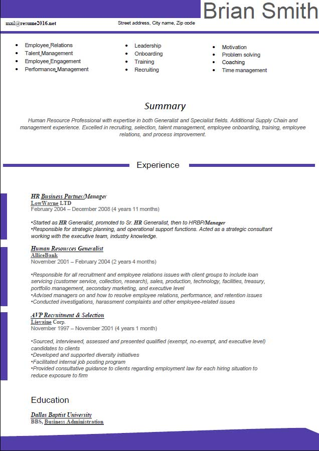 New Resume Format 2013 In Word