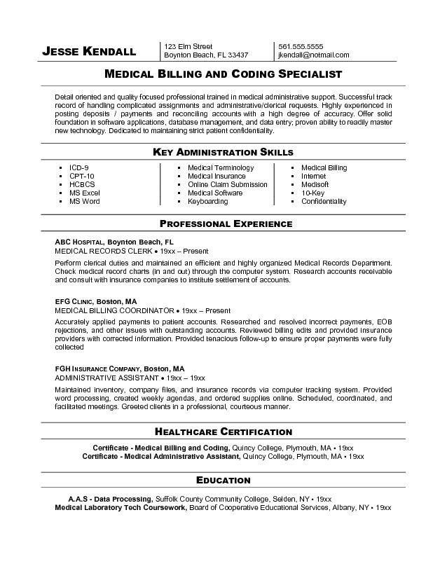 Medical billing and Coding specialist Resume Sample - is specialist sample resume