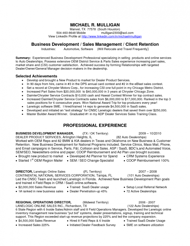 automotive finance manager resume example
