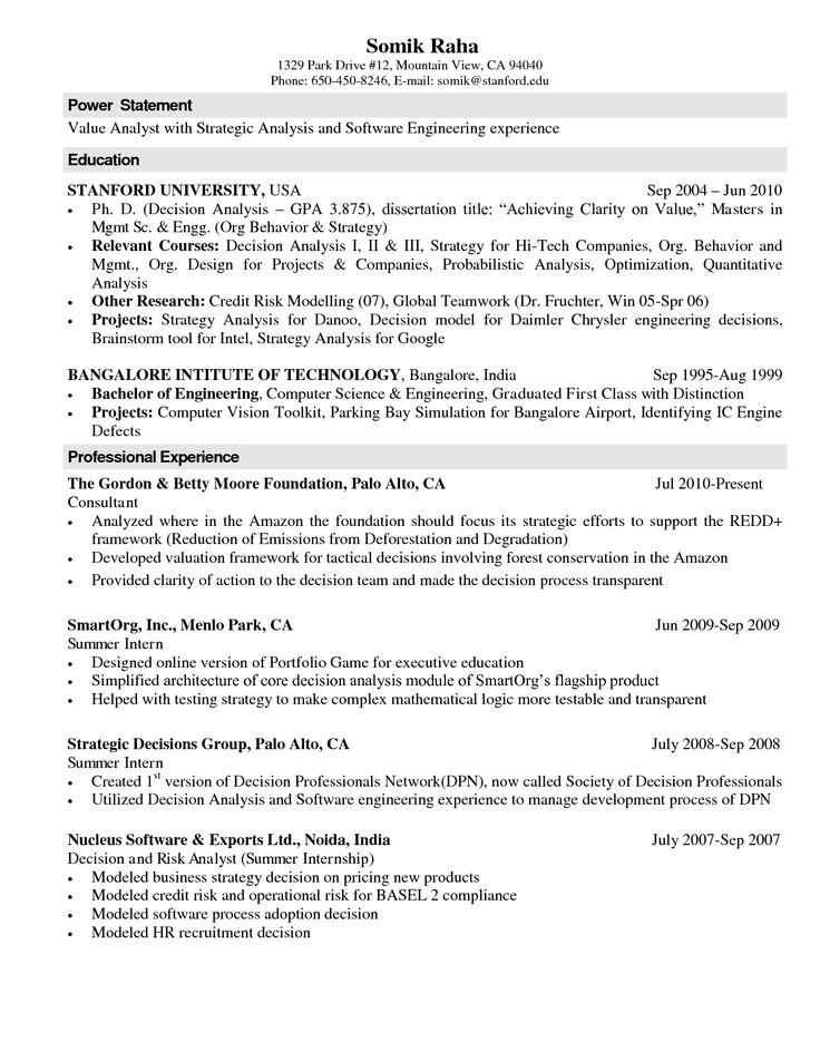Computer Science Resume Templates power statement professional - Computer Science Resume Template