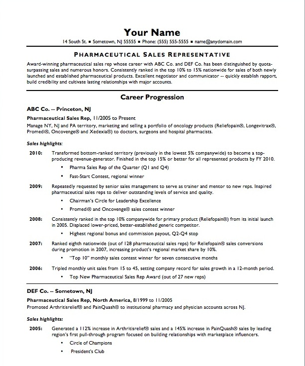 Free Resume Template For Sales Representative Rep Cv Pharmaceutical - sales representative resume templates