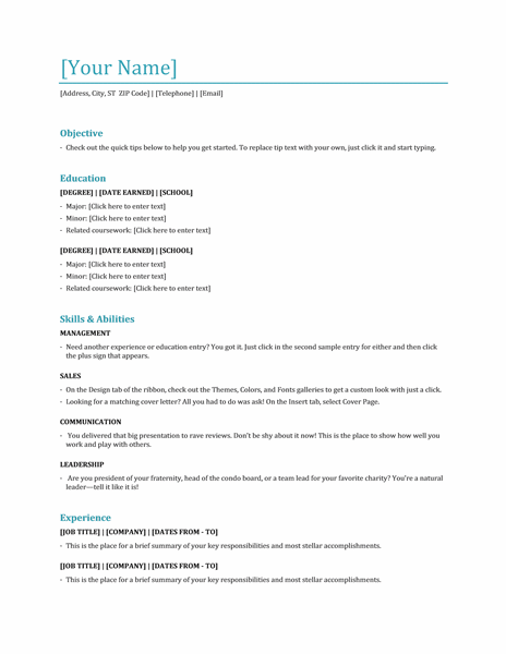 resume for hostess with no experience