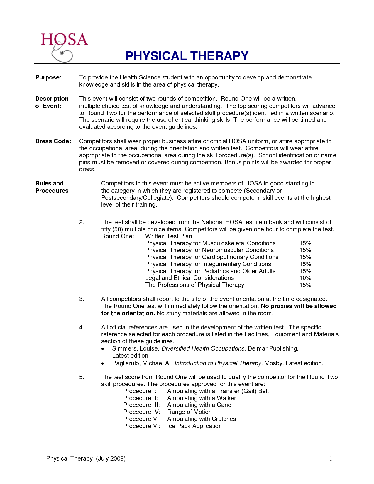 sample objective for physical therapy resume