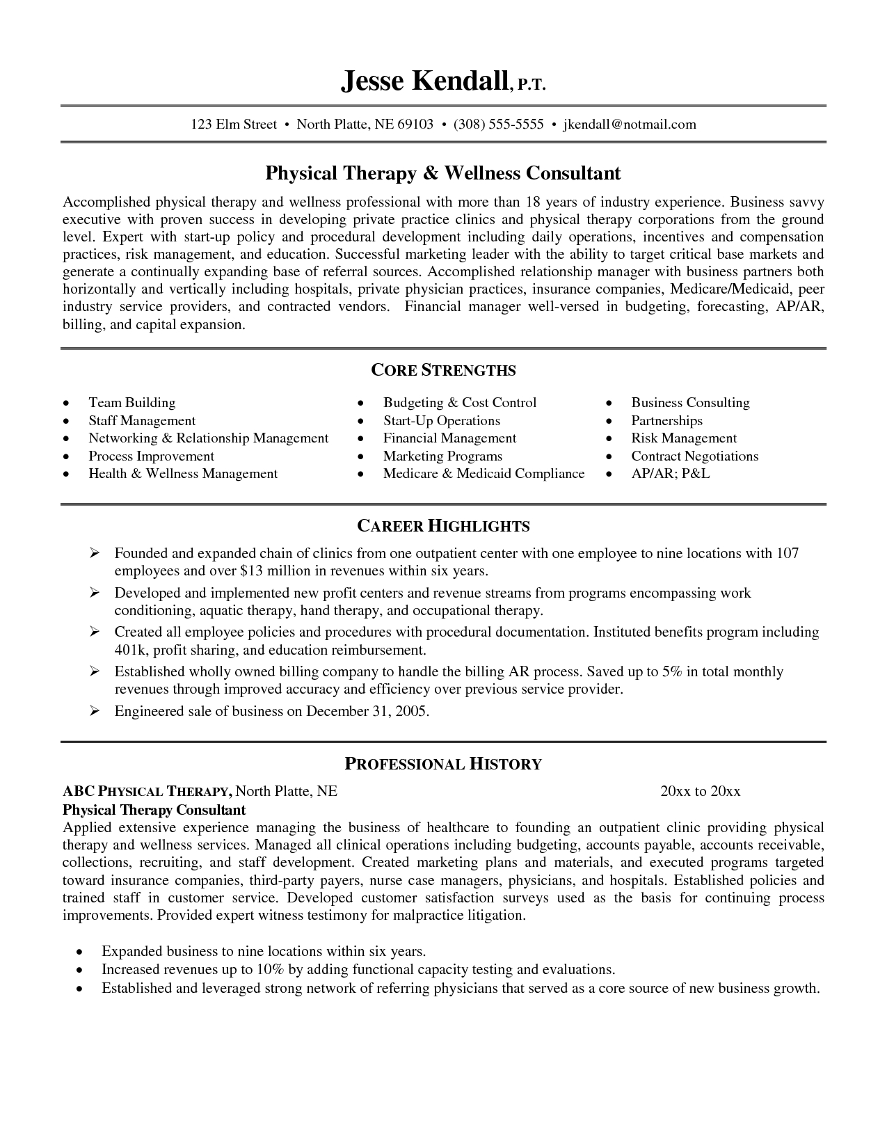 Physical Therapy School Resume Examples Sample Ot Resume Pta Cover Letter  Sample Resume Massage Therapist Resume  Massage Therapy Resumes