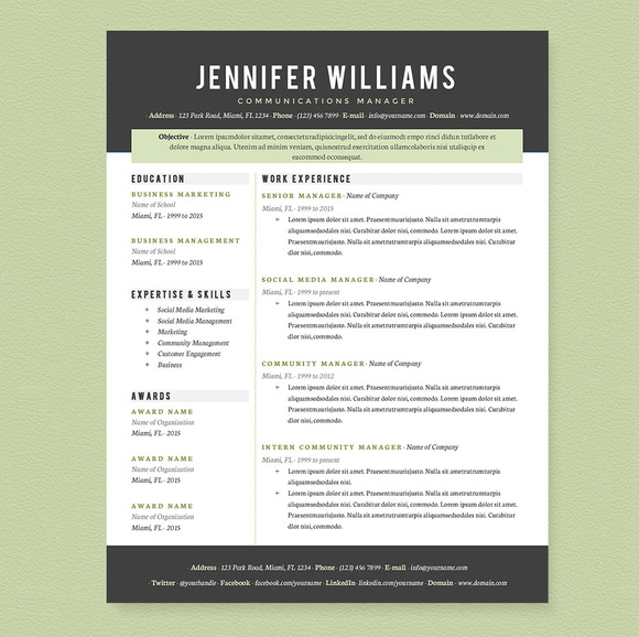 Amazing Professional Resume Template - SampleBusinessResume - amazing resume templates