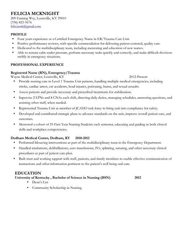 nursing resume examples with clinical experience - Onwebioinnovate - example of a nursing resume
