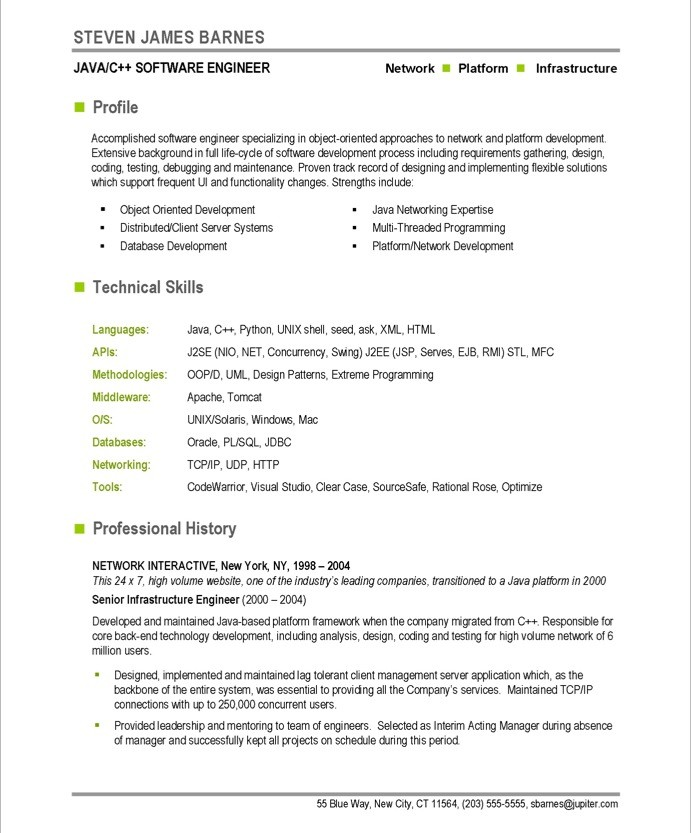 sample software resume - Funfpandroid - Software Engineer Resume Example