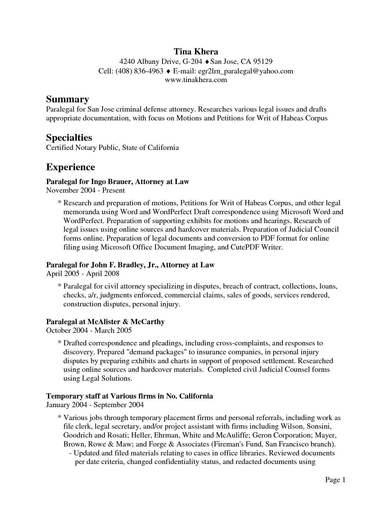 Homework Help | Ferguson Library attorney employment resume Writing ...