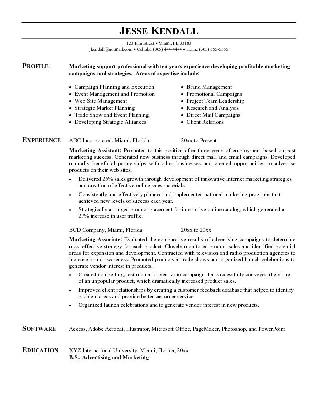 2018 Creative Marketing Assistant - SampleBusinessResume - marketing assistant job description