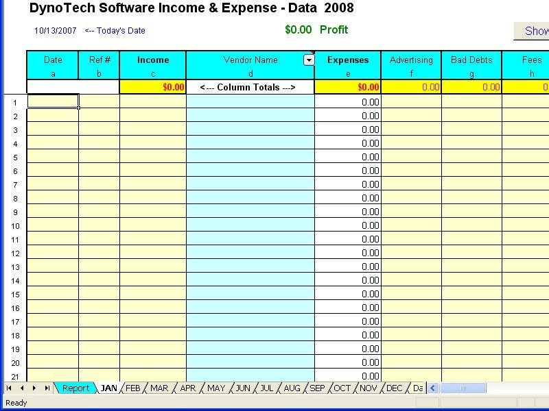daily income and expenditure template for small business - Income Template